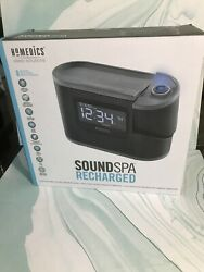 Homedics SS5080 Sound Spa Recharged W/8 Nature Sounds Projection Alarm Clock.FSH
