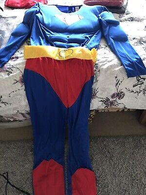 Superman Adult Fancy Dress Size (Superman Fancy Dress Kostüm)
