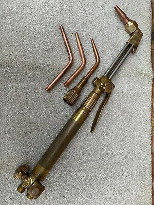 Harris Oxy Acetylene Cutting Welding Brazing W 3-tips Torch Kit 63-2