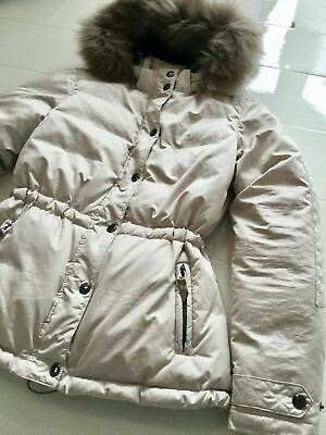 ILSE JACOBSEN HORNBAEK Women's Down Feather Jacket / Coat Fur Hood UK 10 Medium