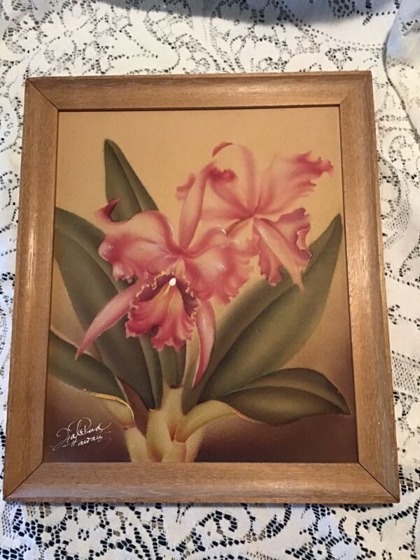 Hale Pua original signed air brush Hawaii Glass & Art