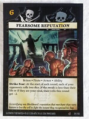 Fearsome Reputation, Anachronism Card Game, foil, excellent