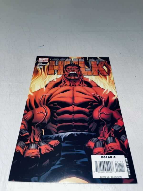 """HULK #1 (NM-) 2008 1st APPEARANCE OF RED HULK! """"DEATH"""" OF ABOMINATION"""