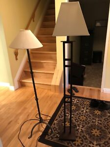 Two tall lamps