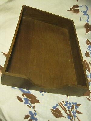 Vtg Hedges Wooden Desktray Office Letterfile Organizer Wood Dovetailed Usa