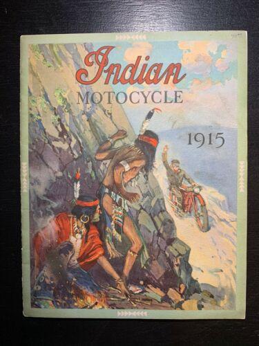 Original 1915 Vintage Print Indian Motorcycle Company