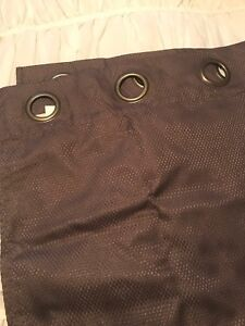 """Long grey """"black-out"""" Bouclair curtains"""