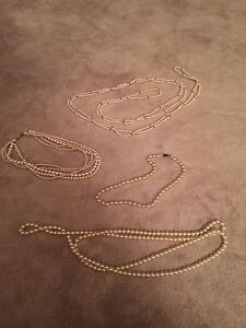 Four beautiful necklaces
