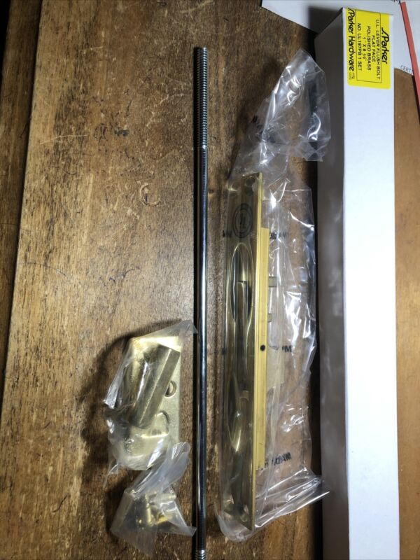 """S. Parker Flush Bolt UL 197PB - Polished Brass -1"""" X 6 3/4 - Lot Of 2 Pieces"""