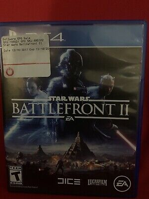 STAR WARS BATTLEFRONT II 2 Sony PlayStation 4 PS4 Action Shooter Video Game