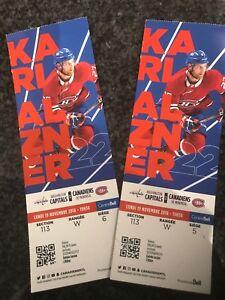 Canadiens vs Capitals Habs Capitals 19 Novembre 2018