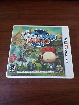 Scribblenauts Unlimited (Nintendo 3DS, 2012) GAME ONLY