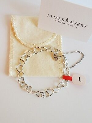 James Avery Brand New Connected Hearts Charm Bracelet