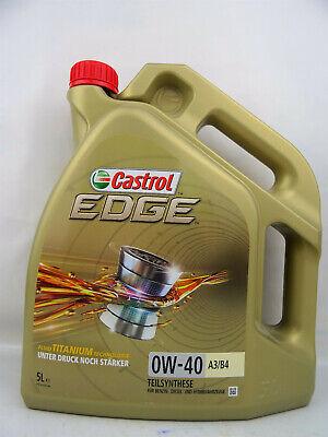 Castrol 0W40 Edge 5Liter 0W-40 A3/B4 Ford Porsche VW 502 00/ 505 15337F Motoröl