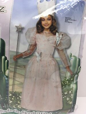 Glinda The Good Witch Costume For Girls (Wizard of Oz Glinda The Good Witch Girls Costume med 8-10 w/ wand  &)
