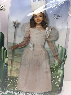 Wizard of Oz Glinda The Good Witch Girls Costume med 8-10 w/ wand  & crown](Glinda The Good Witch Costume Girls)