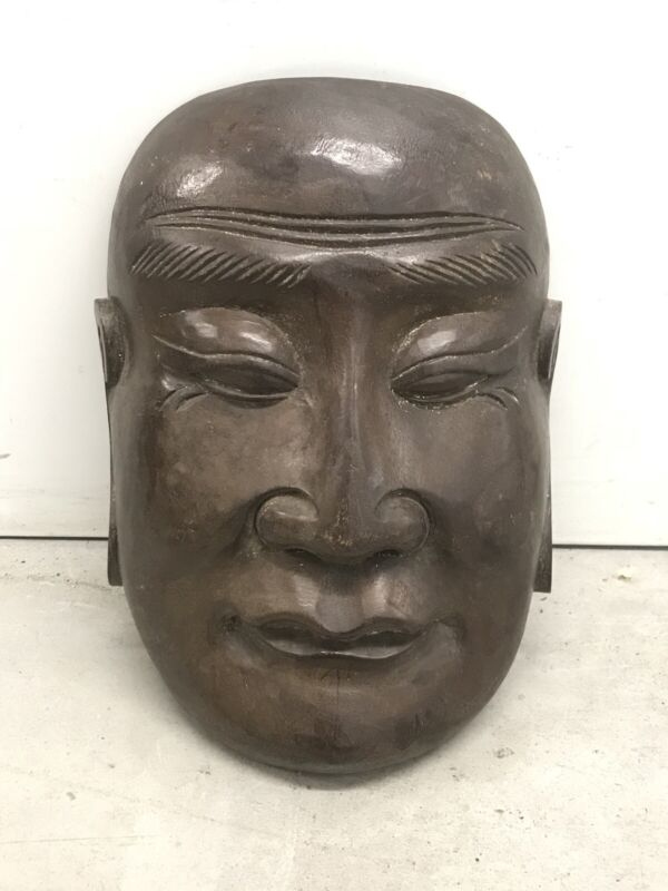 19th century Antique Chinese Opera Carved Mask Buddhist Mask c1890