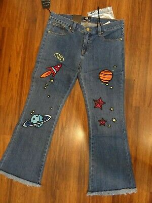NWT HOUSE OF HOLLAND X LEE SPACE PATCH JEANS 30