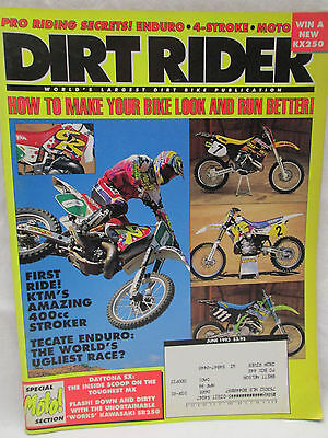 Dirt Rider Magazine June 1993 How To Make Your Bike Look And Run