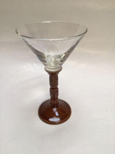 Trader Vic's Ceramic Tiki Stem Cocktail Martini Glass 5 oz. Dessert Drink NEW