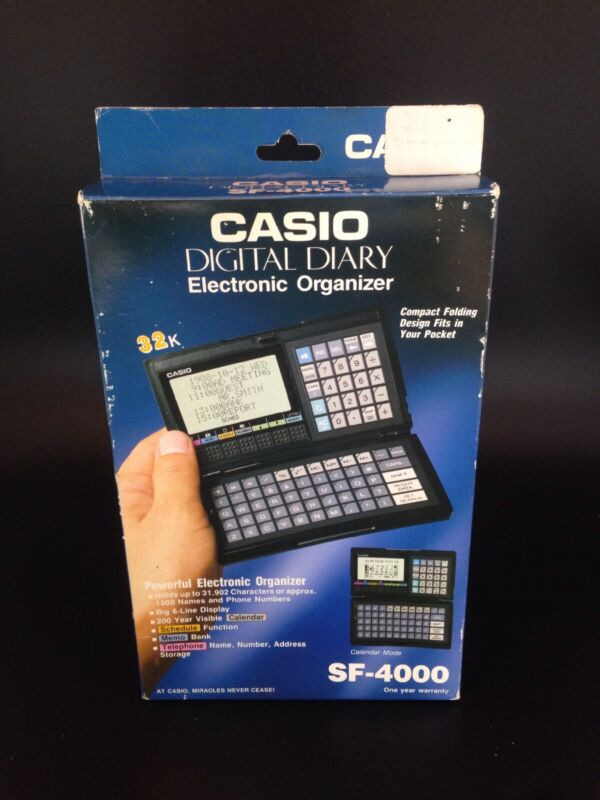 Vintage Casio SF-4000 Digital Diary in a NEVER BEEN OPENED BOX