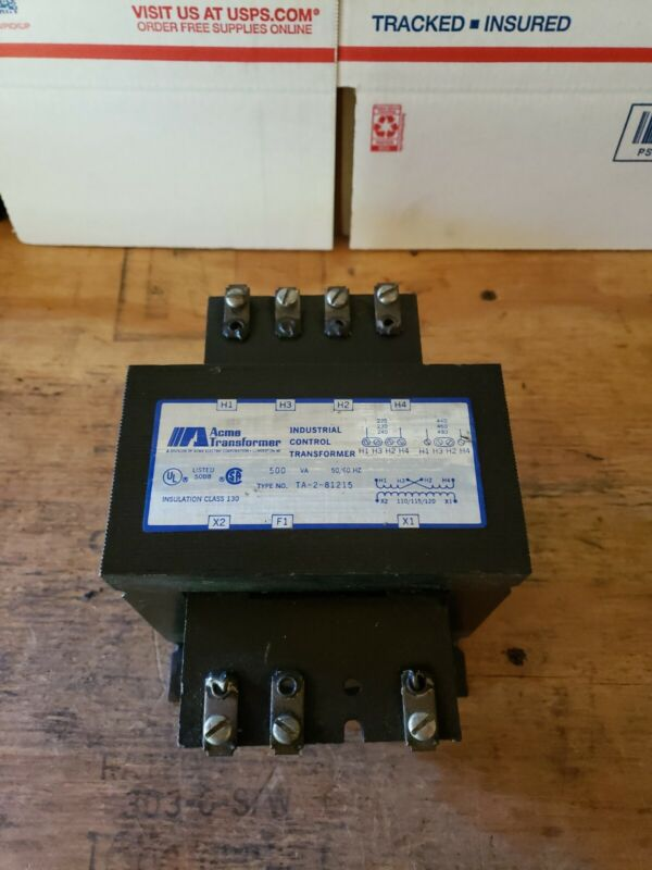 Acme Transformer .500 KVA Control Transformer TA-2-81215. SEE PHOTOS