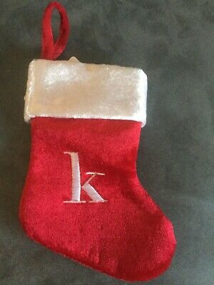 CVS MERRY BRIGHT MINI MINIATURE CHRISTMAS MONOGRAMMED STOCKING - LETTER K  ()