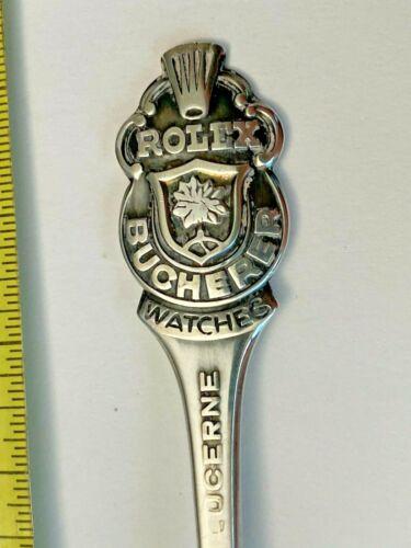 Souvenir silver plated spoon - Lucerne, Switzerland; Rolex Bucherer