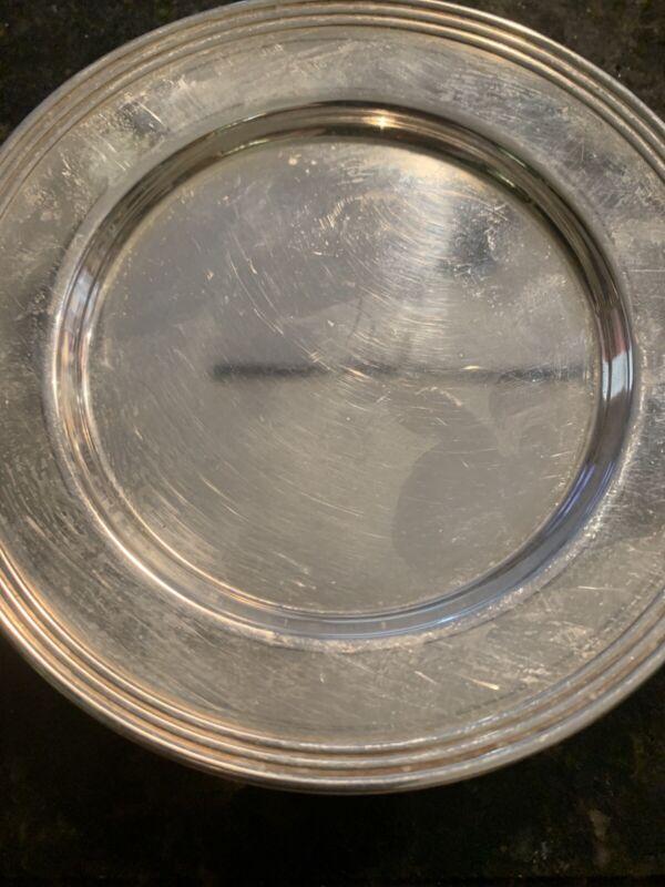 Sterling Silver Desert Plates 229.7 Grams 8 Plates