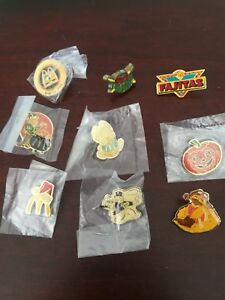 Set of 9 Collecible McDonalds Pins (Vintage)