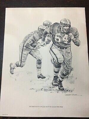 1960 Robert Riger Shell Oil 16x20 Framed Print Captain Robustelli Blitzes.. #6 of 10