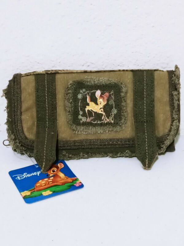 Disney Bambi Lady Distressed Wallet ID Credit Card Check Holder Canvas Coin Bag