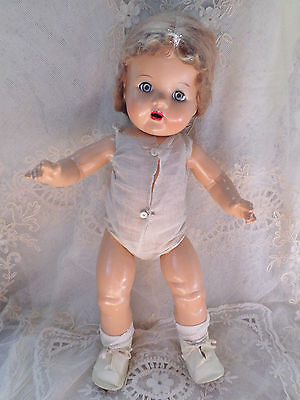 """ANTIQUE 19"""" COMPOSITION DOLL IN CHEMISE ~HIGH COLOR~  BEAUTIFUL CONDITION"""