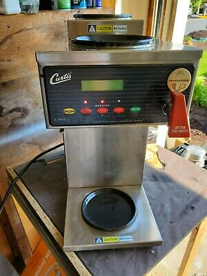 Curtis Alpha 3gt Coffee Brewer 1 Lower 2 Upper Warmers Fbalp3gt63a000 Tested