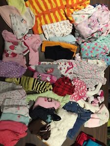 Lot of baby girl clothing 0-3 and 3-6 months