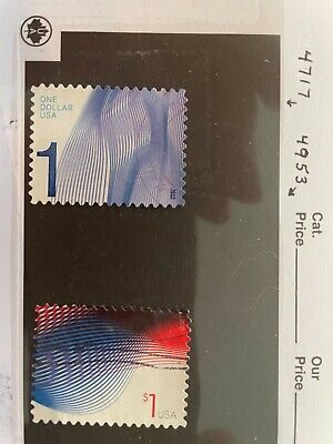 US Stamps - recent used $1 stamps: Scott #s 4717 & 4953, solid stamps, off paper
