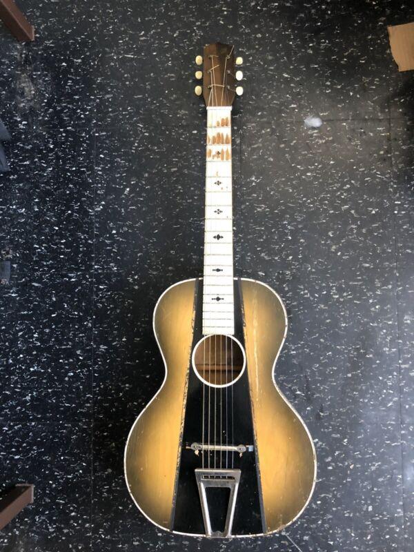 1940's Art Deco Stella parlor guitar