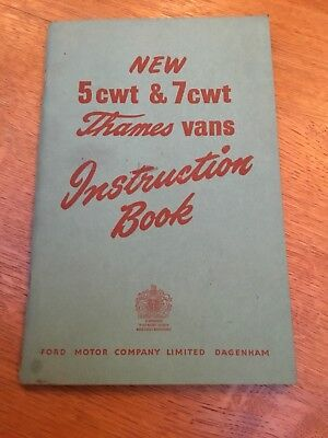 FORD THAMES 5 & 8 CWT INSTRUCTION BOOK  - FORD - COMMERCIAL VAN VINTAGE