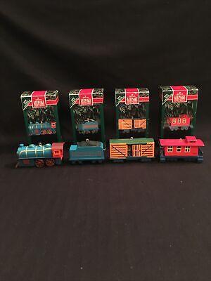 Hallmark Keepsake Sky Line Train Collection set Of 4 Christmas Ornaments 1992