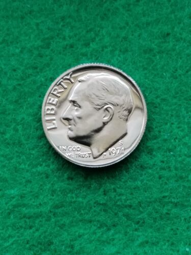 1971-S-  Roosevelt Dime cameo  Uncirculated -proof **free ship**