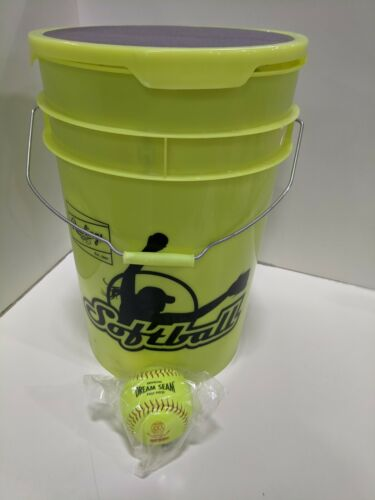 Rawlings ASA Certified Dream Seam Softballs With Bucket 24 Count
