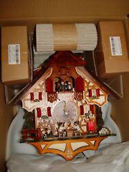 Brand new A. Schneider Black Forest 8 day beer drinkers cuckoo clock.