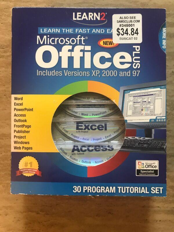 Learn2 Microsoft Office & Windows Plus MegaBox  XP / 2000 / 97 / 30 Program/NEW