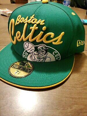 Boston Celtics Hardwood Classics Big Script NBA New Era 59Fifty Flat Bill Hat  Boston Celtics Classics Flat