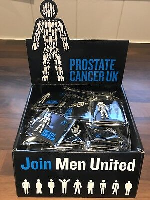 Prostate Cancer UK Badge - brand new. All proceeds directly to Prostate Cancer