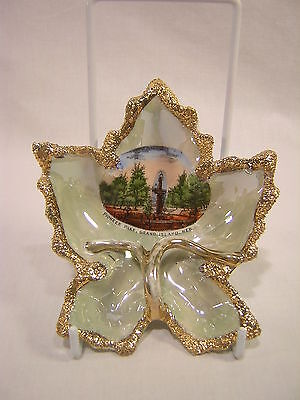 Germany Souvenir China Grand Island, Nebraska Leaf Shaped Dish