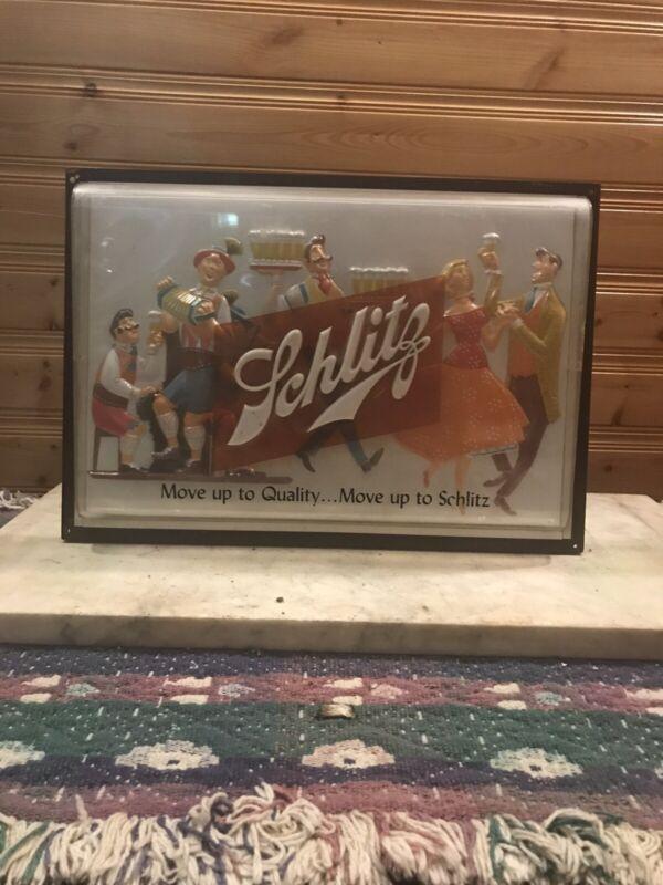 Schlitz Beer Sign 1957 Dancing Schlitzerland