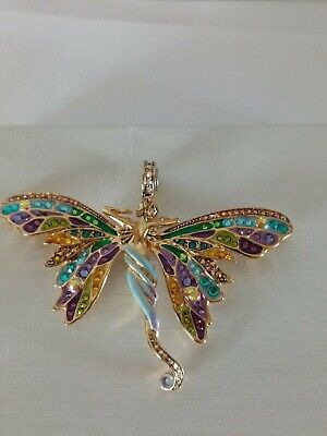Kirks Folly Huge Crystal Butterfly Fairy Magnetic Pendant