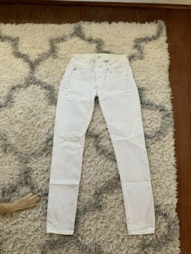 HUDSON Jeans Collin Ankle Skinny Jeans Distressed White Wash Size 24 - $35.00
