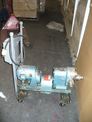 Waukesha Sanitary Pump Size 25 12 Hp On Cart W Square D Starter 480v Plug